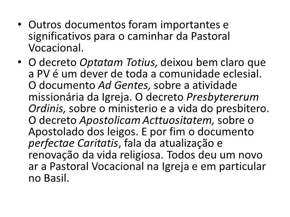 Diante disso, a Pastoral Vocacional é chamada, antes de tudo, conscientizar-se da realidade.