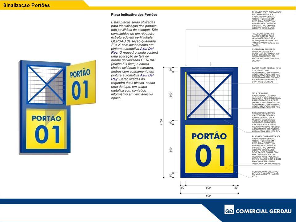 Placa de cerca Formato padrão: 1,50 x 1,20 m
