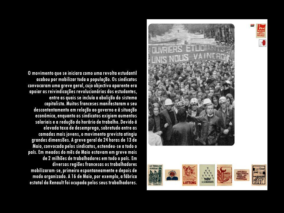 O movimento que se iniciara como uma revolta estudantil acabou por mobilizar toda a população.