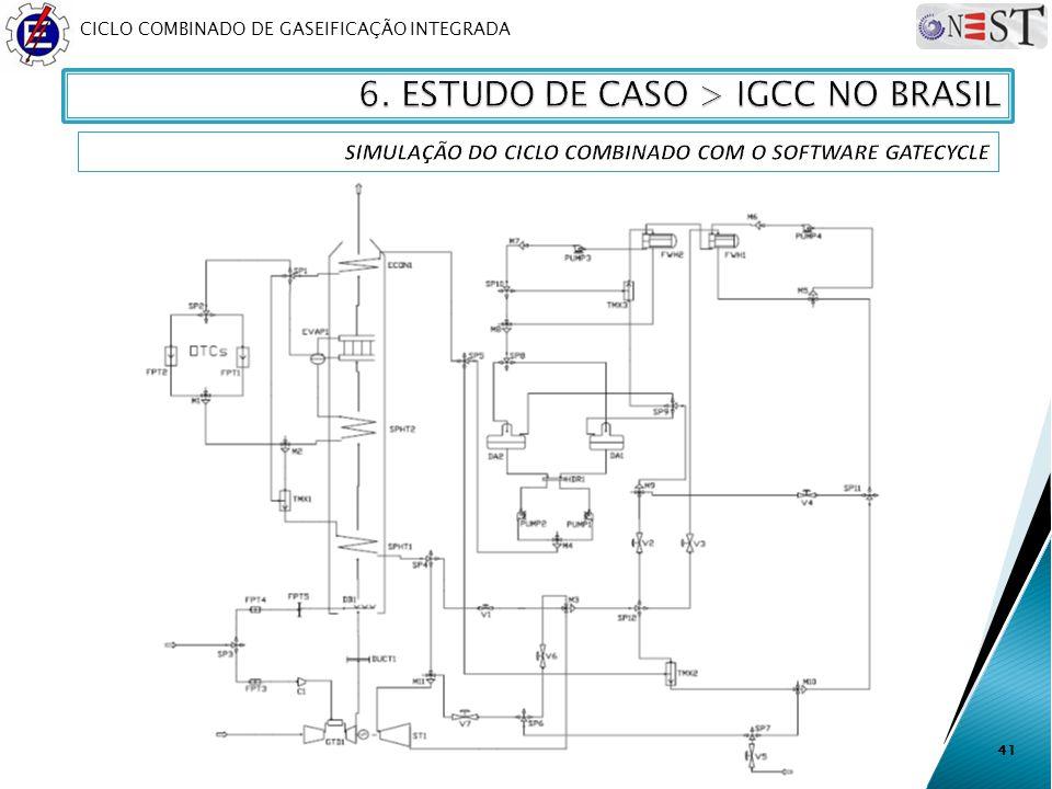 CICLO COMBINADO DE GASEIFICAÇÃO INTEGRADA 41