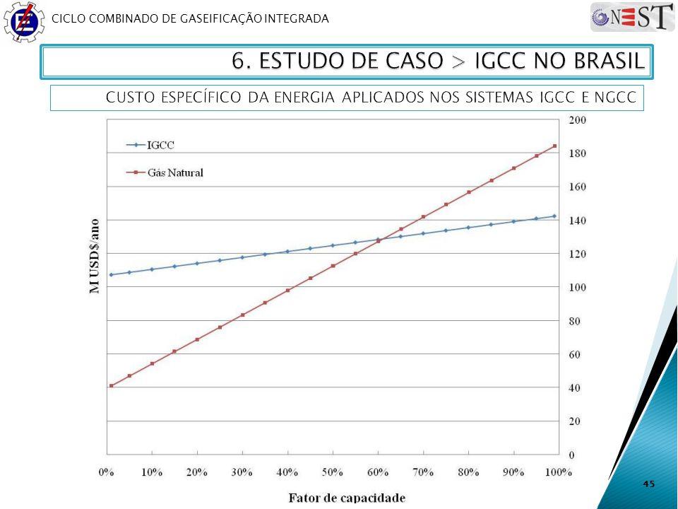 CICLO COMBINADO DE GASEIFICAÇÃO INTEGRADA 45