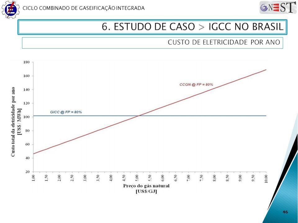 CICLO COMBINADO DE GASEIFICAÇÃO INTEGRADA 46