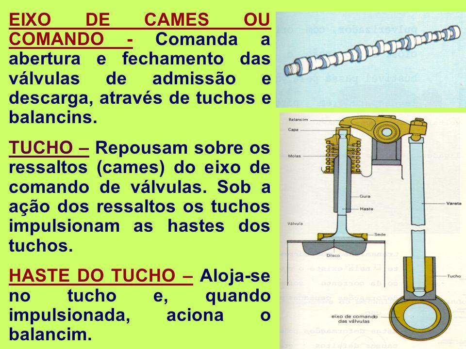 VÁLVULAS DE ADMISSÃO – Permitem a entrada do ar atmosférico.