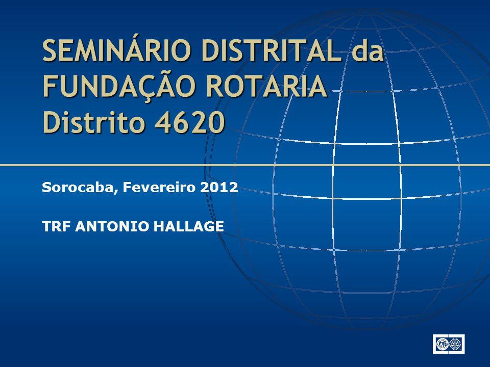 SEMINÁRIO DISTRITAL da FUNDAÇÃO ROTARIA Distrito 4620 Sorocaba, Fevereiro 2012 TRF ANTONIO HALLAGE