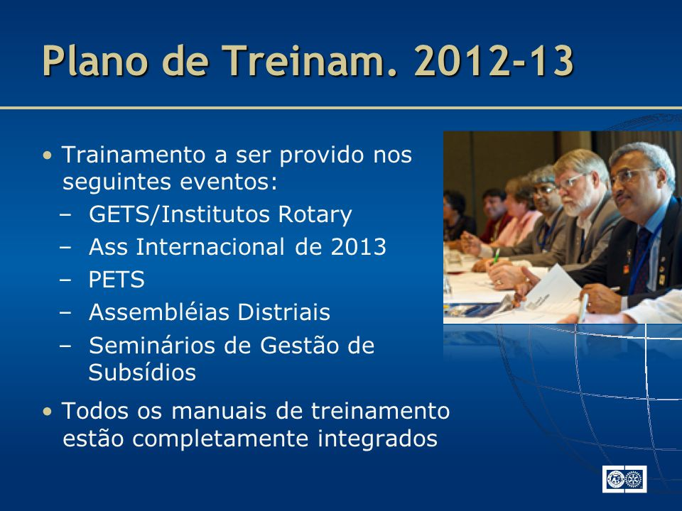 Plano de Treinam.