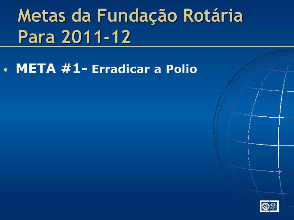 META #1- Erradicar a Polio Metas da Fundação Rotária Para 2011-12