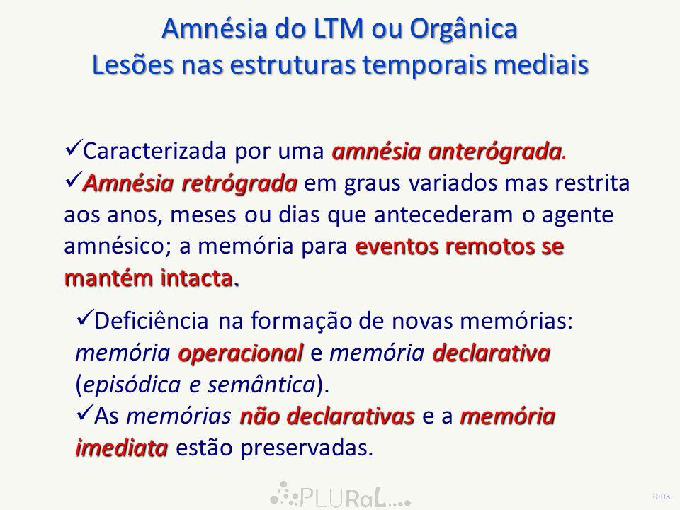 amnésia anterógrada Caracterizada por uma amnésia anterógrada.