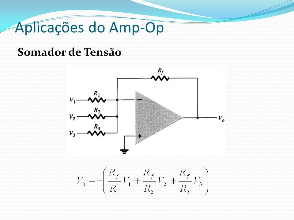 Aplicações do Amp-Op Fontes Controladas FONTE DE CORRENTE CONTROLADA A CORRENTE A corrente de saída depende da corrente de entrada