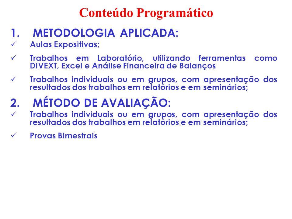 CONTABILIDADE ANÁLISE DE BALANÇOS 1.