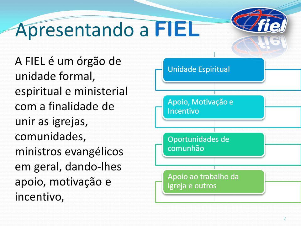 Apresentando a FIEL A FIEL é um órgão de unidade formal, espiritual e ministerial com a finalidade de unir as igrejas, comunidades, ministros evangéli