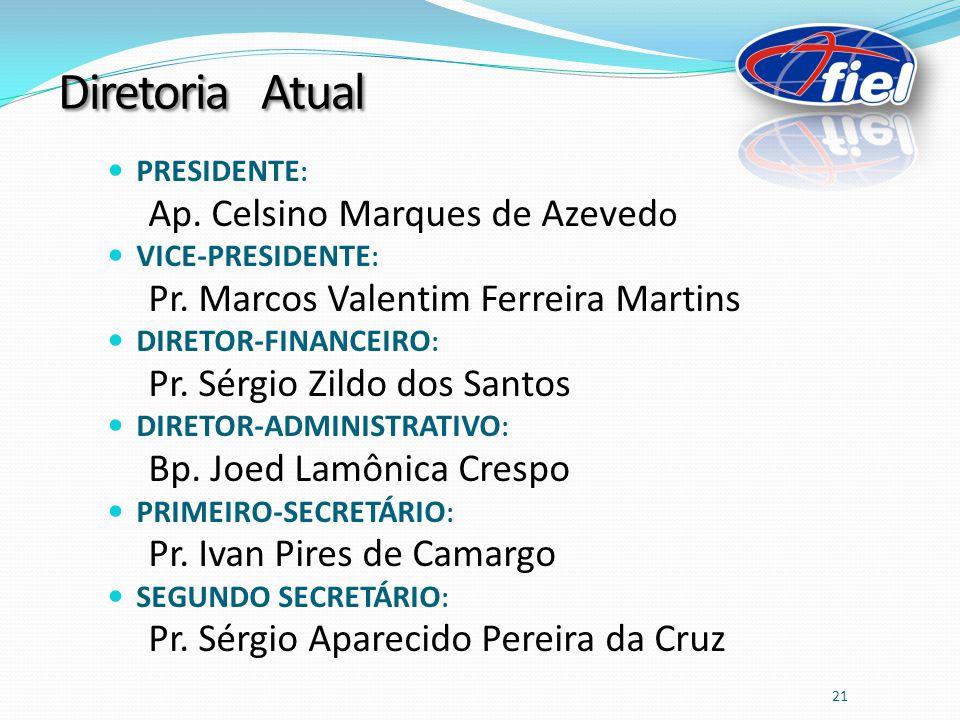PRESIDENTE : Ap.Celsino Marques de Azeved o VICE-PRESIDENTE : Pr.