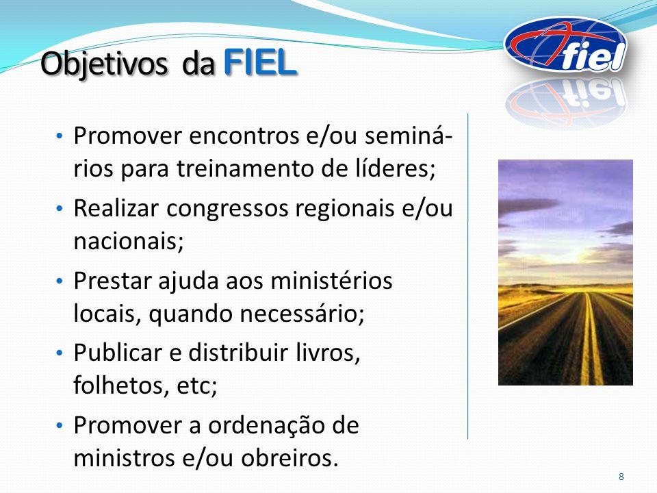 Promover encontros e/ou seminá- rios para treinamento de líderes; Realizar congressos regionais e/ou nacionais; Prestar ajuda aos ministérios locais,