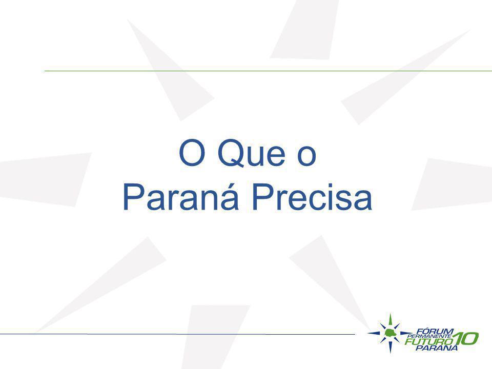 O Que o Paraná Precisa