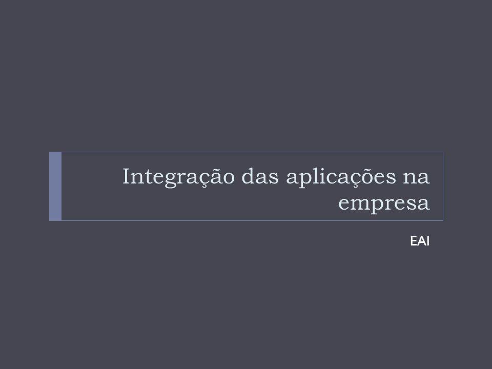 Integração das aplicações na empresa EAI