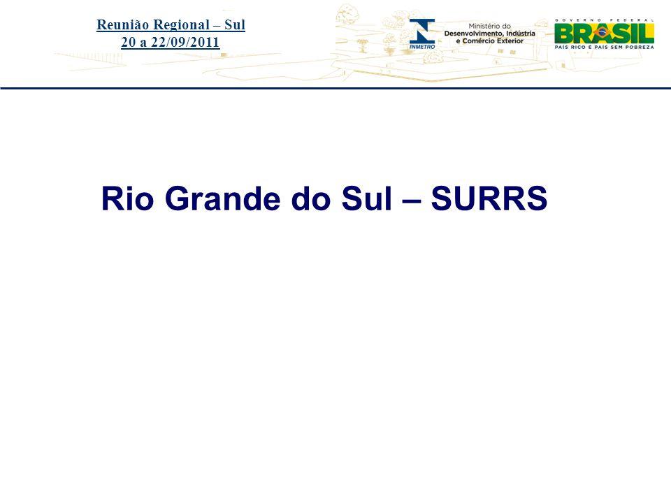 Título do evento Rio Grande do Sul – SURRS Reunião Regional – Sul 20 a 22/09/2011