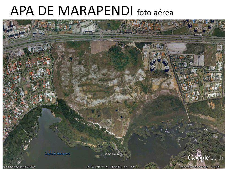 APA DE MARAPENDI zoneamento atual