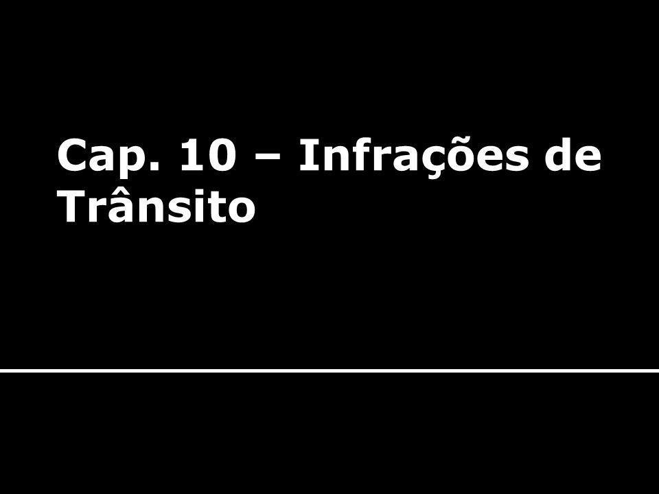 Cap. 10 – Infrações de Trânsito