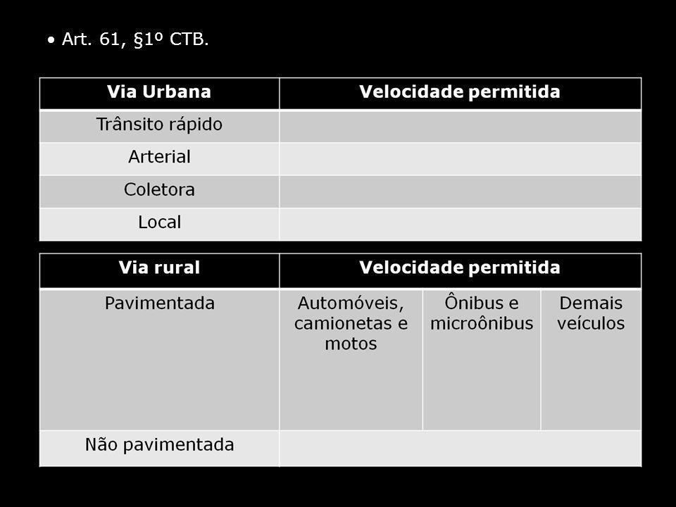 Art. 61, §1º CTB.