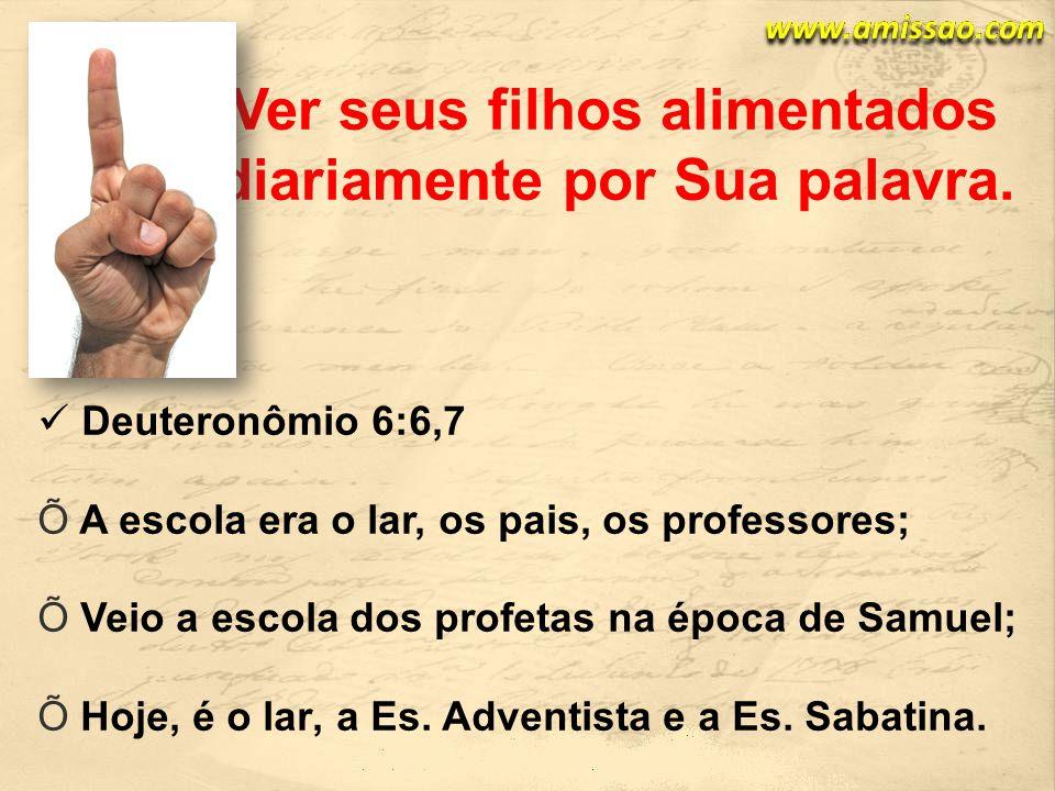 Deuteronômio 6:6,7 A escola era o lar, os pais, os professores; Veio a escola dos profetas na época de Samuel; Hoje, é o lar, a Es.