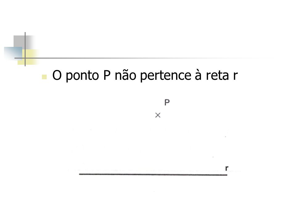 O ponto P não pertence à reta r