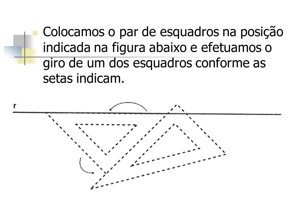 Dada a reta r, trace o par de paralelas s e s´, distantes 2,0 cm de r r