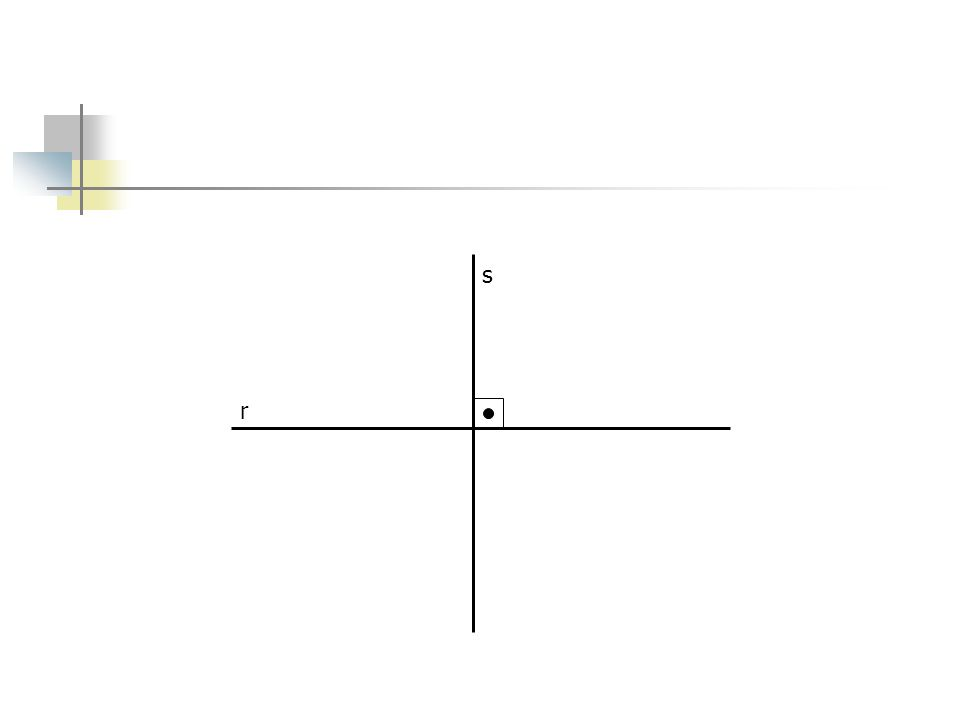 Dados a reta r e o ponto P, trace uma reta s perpendicular a reta r ao ponto P.
