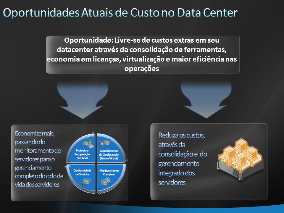 Oportunidade: Livre-se de custos extras em seu datacenter através da consolidação de ferramentas, economia em licenças, virtualização e maior eficiência nas operações