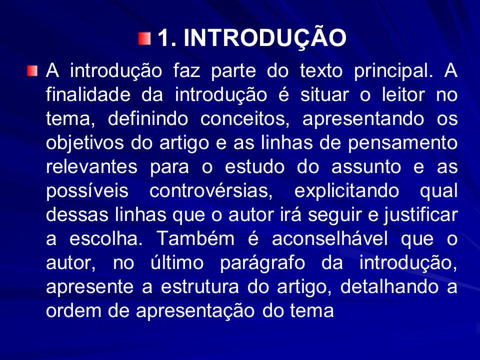 1.INTRODUÇÃO A introdução faz parte do texto principal.