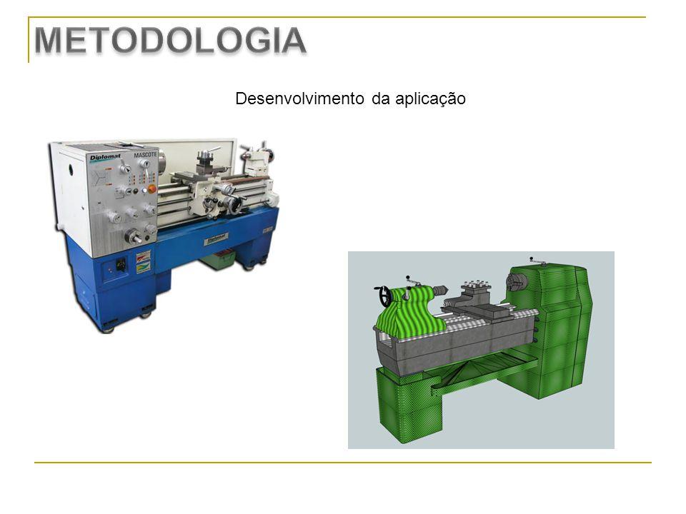 Design da aplicação no SL Parte do código em LSL da aplicação Turmas envolvidas: Alunos da Educação Profissional, 1º módulo, curso Técnico em Mecânica.