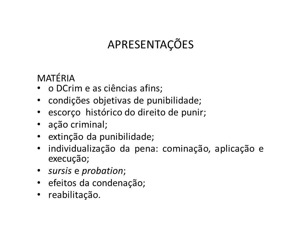 APRESENTAÇÕES BIBLIOGRAFIA: NUCCI, Guilherme de Souza.