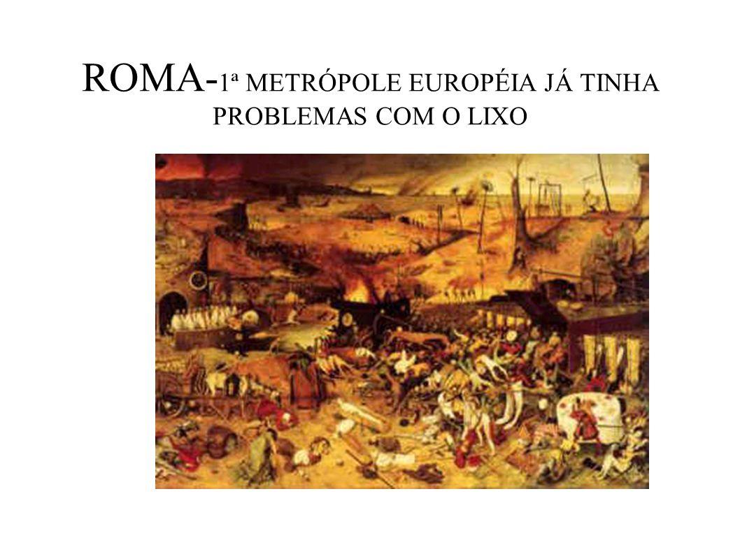 ROMA- 1ª METRÓPOLE EUROPÉIA JÁ TINHA PROBLEMAS COM O LIXO