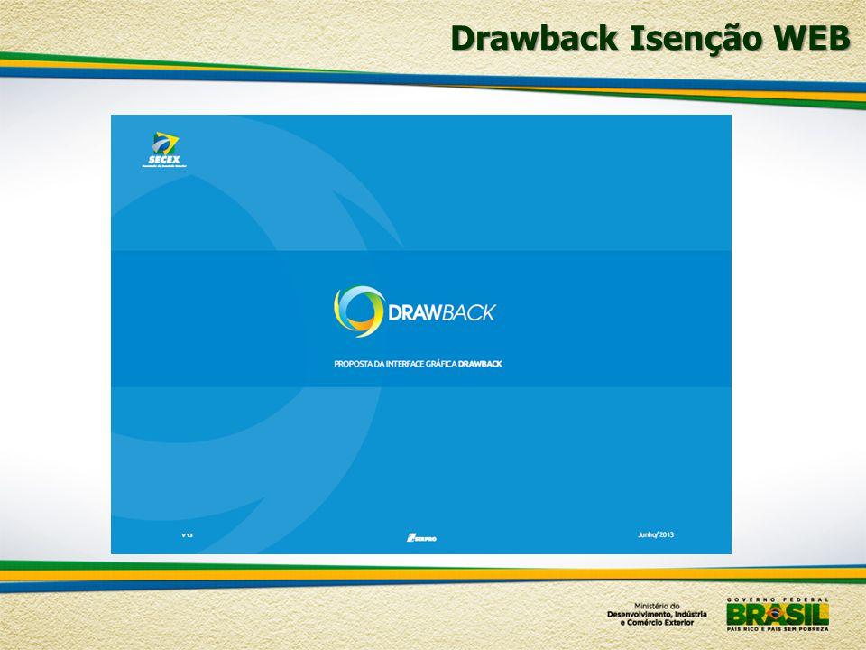 Drawback Isenção WEB