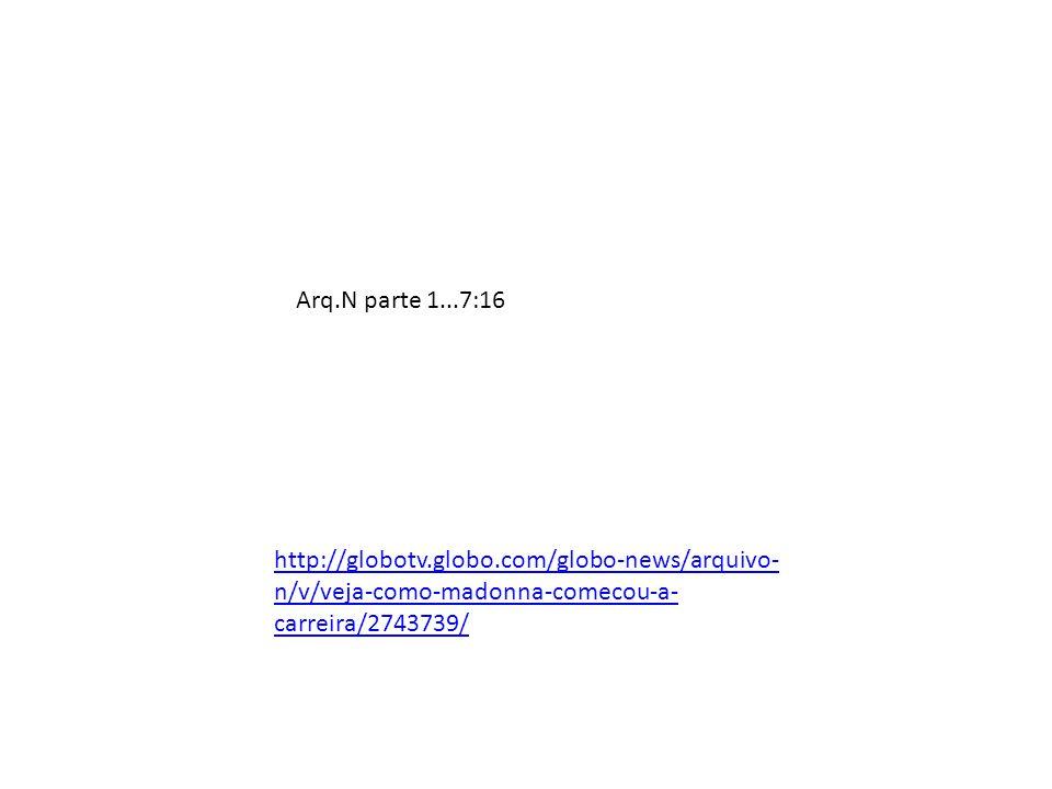 Arq.N parte 1...7:16 http://globotv.globo.com/globo-news/arquivo- n/v/veja-como-madonna-comecou-a- carreira/2743739/
