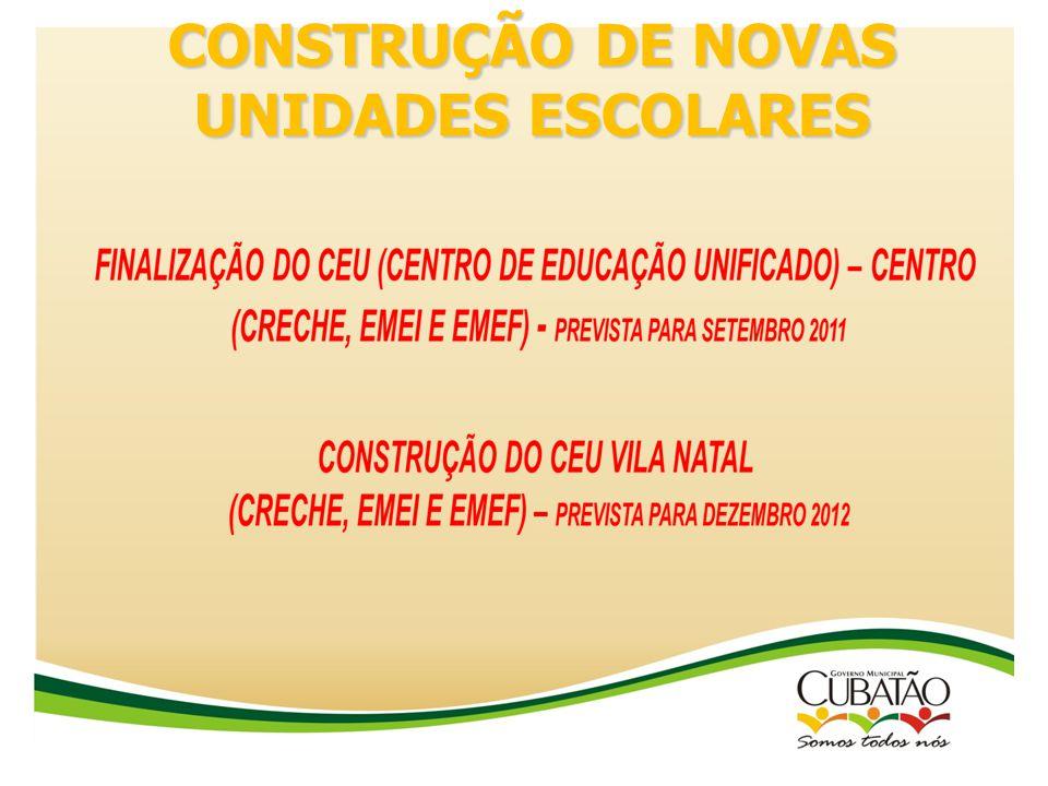 CONSTRUÇÃO DE NOVAS UNIDADES ESCOLARES
