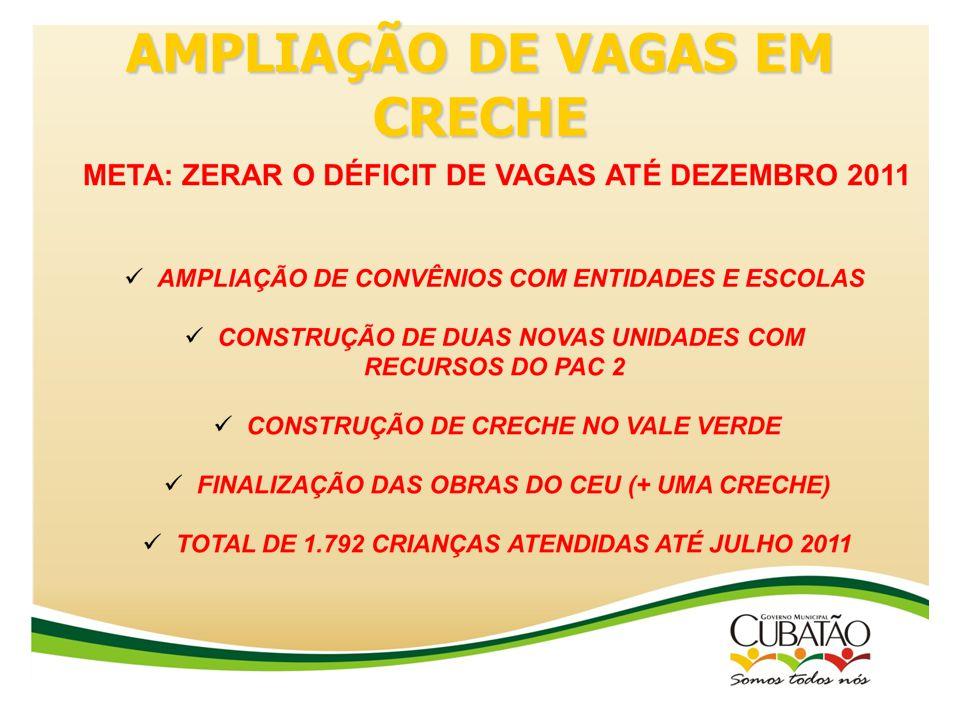 AMPLIAÇÃO DE VAGAS EM CRECHE