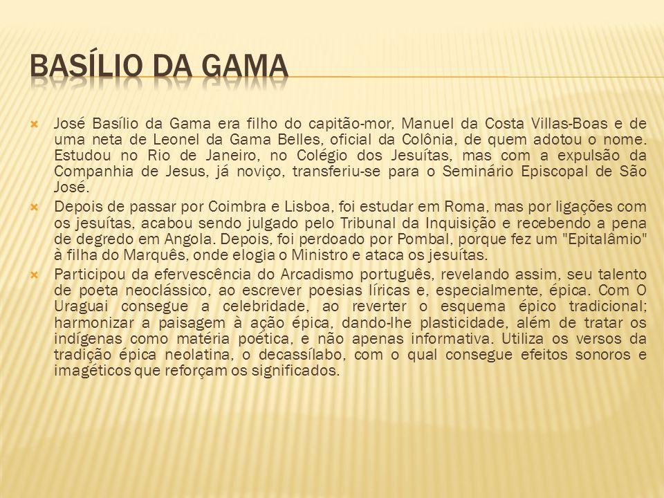 José Basílio da Gama era filho do capitão-mor, Manuel da Costa Villas-Boas e de uma neta de Leonel da Gama Belles, oficial da Colônia, de quem adotou o nome.