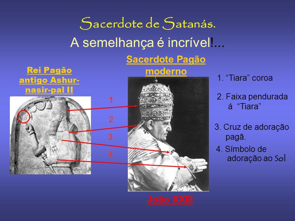 Rei Shamshi Adad V Note a forma de usar a cruz Pátea num antigo Rei 2800 anos atrás, o uso desta cruz simbolizava a adoração pagâ ao deus Sol. Manto(P