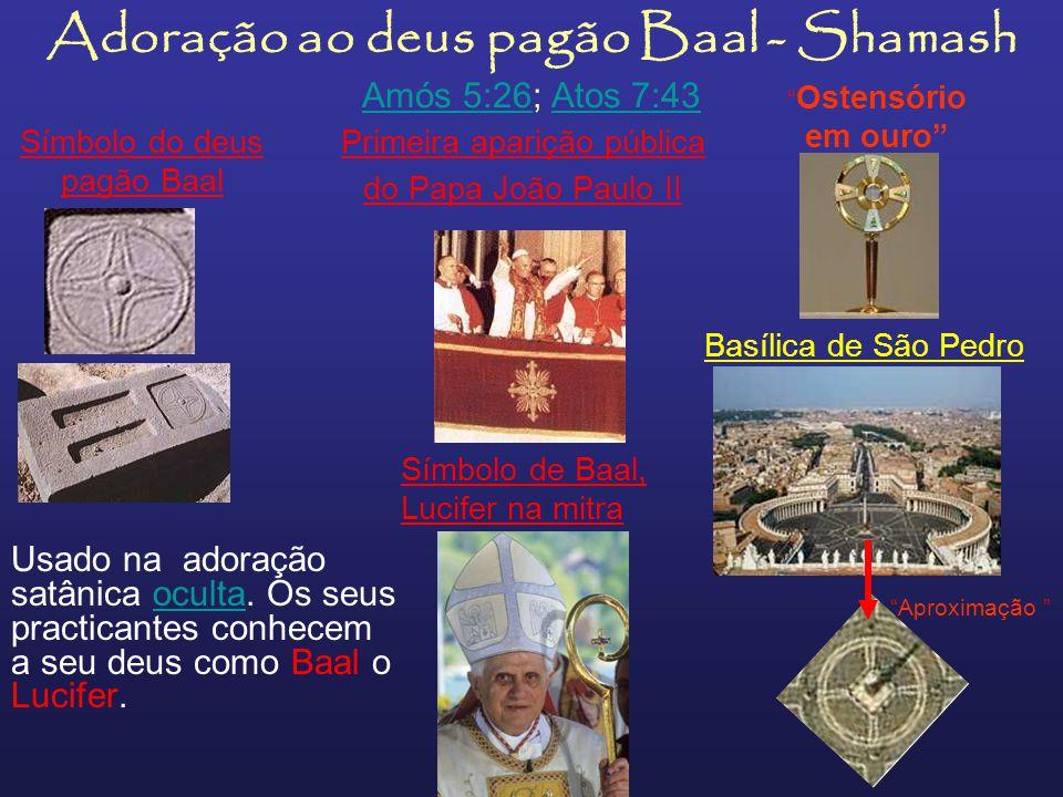 Uso da mitra, os antigos sacerdotes pagãos usavam-no em honra ao deus-peixe Dagón, falso salvador Adoração pagã ao deus Dagón Na foto superior, á esqu
