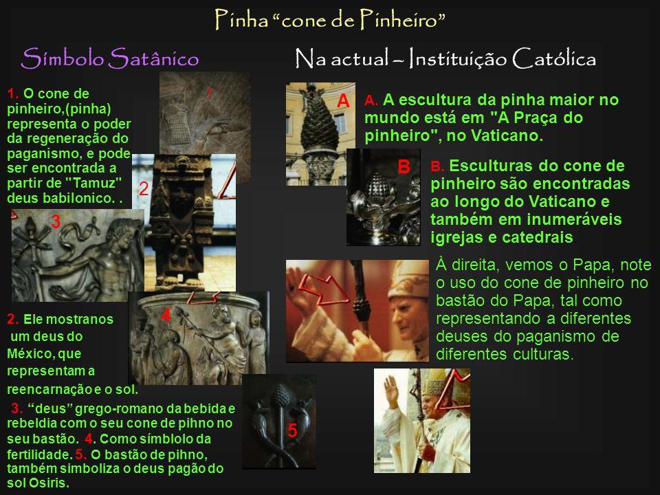 Símbolo SatânicoNa actual – Instituição Católica Rosário Esquerda, divindade Hindú com um rosário adoração pagã. Era comun enterrar os faraós do Egipt