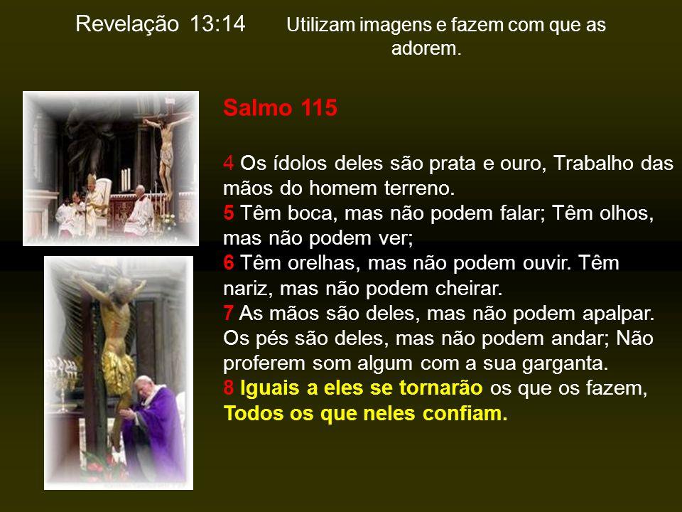 Revelação 13:14 Utilizam imagens e fazem com que as adorem.