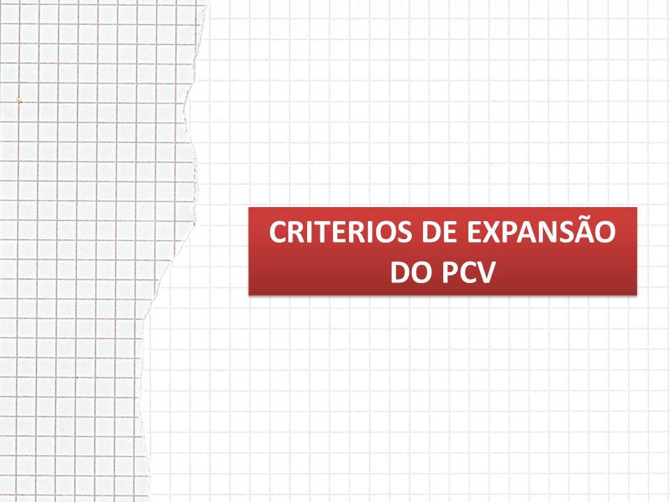 CRITERIOS DE EXPANSÃO DO PCV
