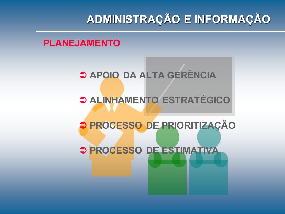 PLANEJAMENTO ORGWARE PEOPLEWARE SOFTWARE HARDWARE ADMINISTRAÇÃO E INFORMAÇÃO