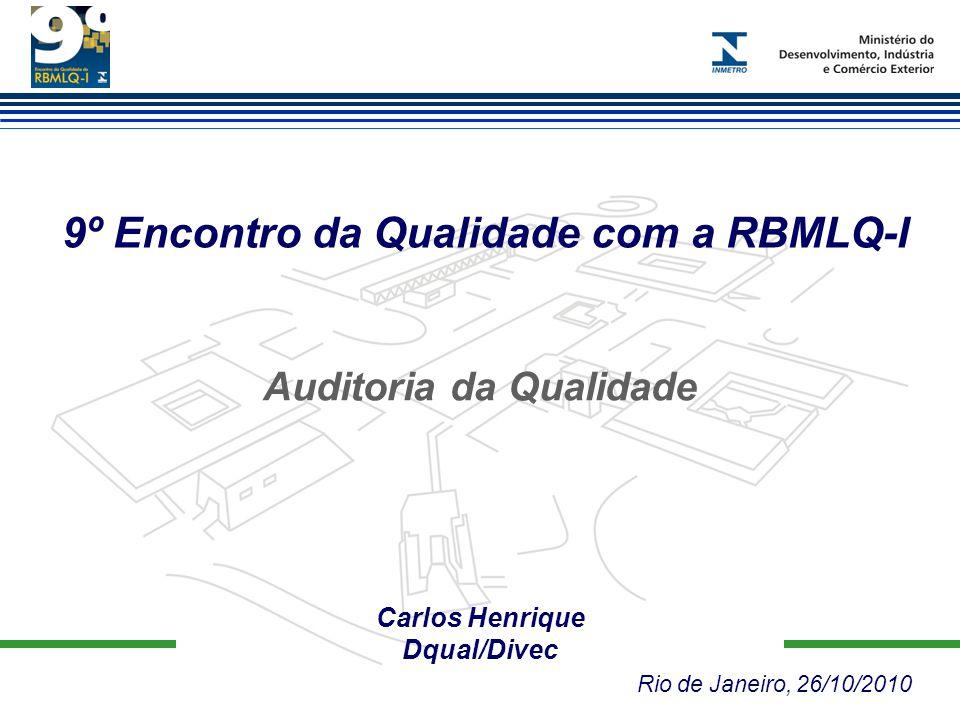 9º Encontro da Qualidade com a RBMLQ-I Carlos Henrique Dqual/Divec Rio de Janeiro, 26/10/2010 Auditoria da Qualidade