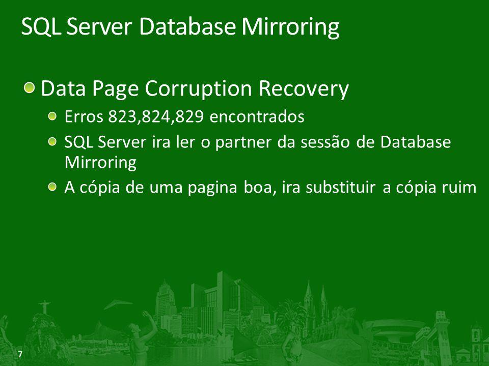 8 Restore de paginas corrompidas com o database mirroring