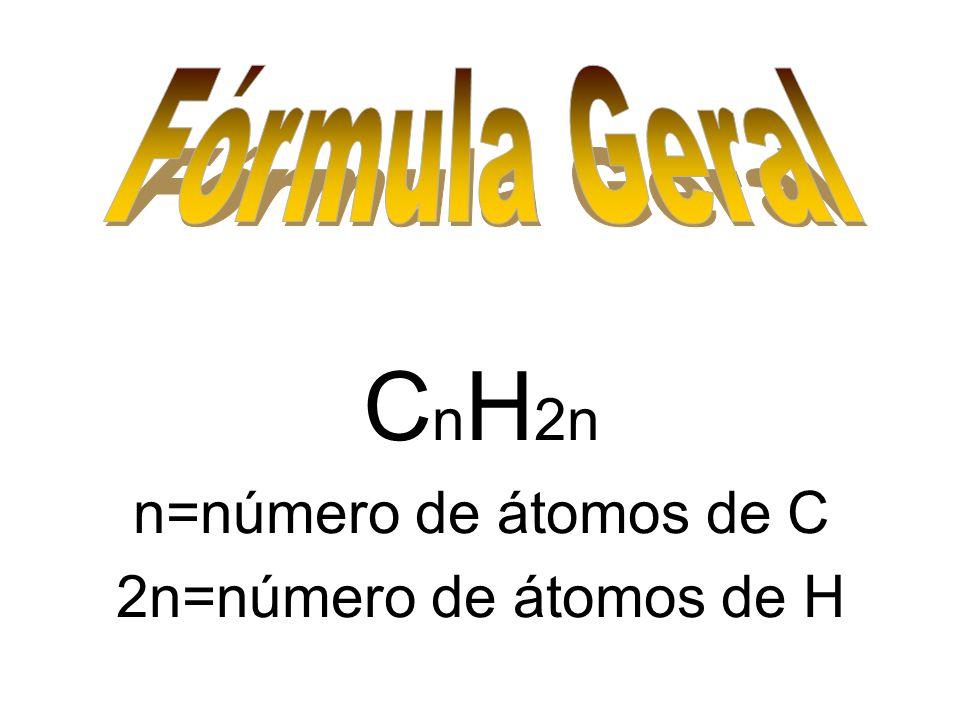 C n H 2n n=número de átomos de C 2n=número de átomos de H