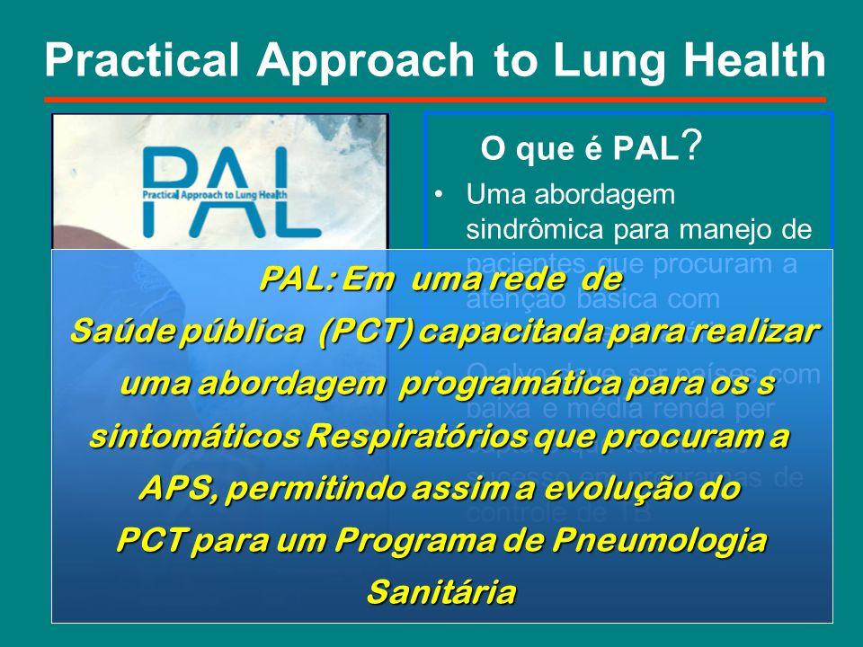 Practical Approach to Lung Health O que é PAL ? Uma abordagem sindrômica para manejo de pacientes que procuram a atenção básica com sintomas respirató