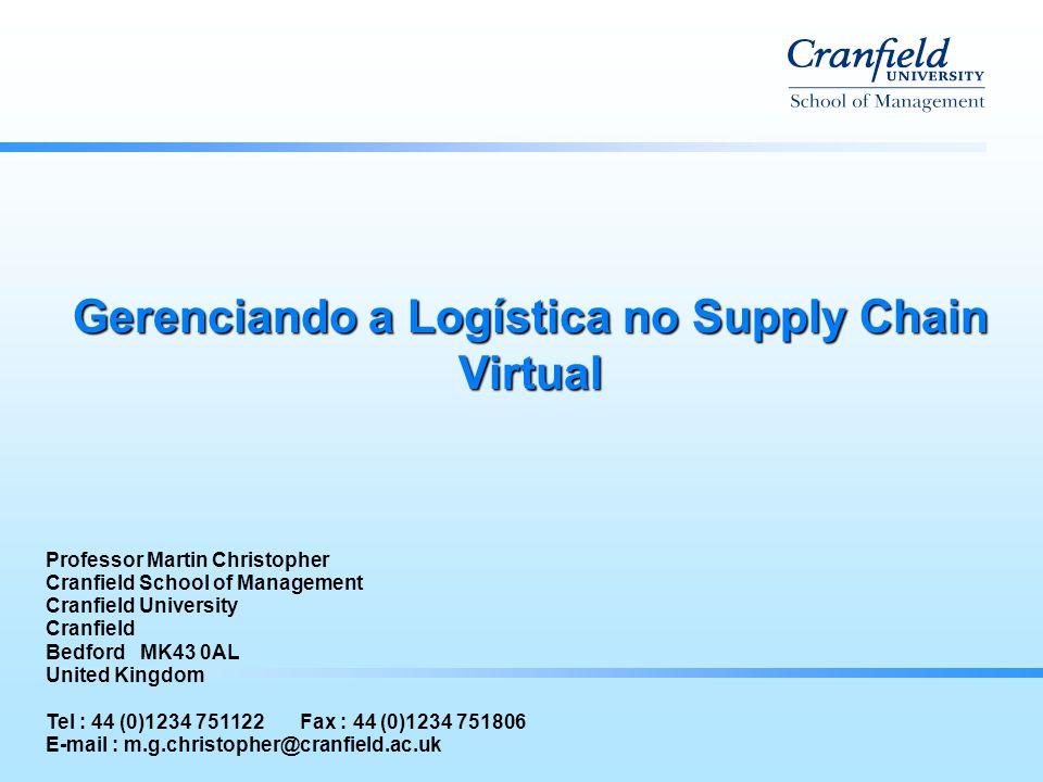 Gerenciando a Logística no Supply Chain Virtual Professor Martin Christopher Cranfield School of Management Cranfield University Cranfield Bedford MK4