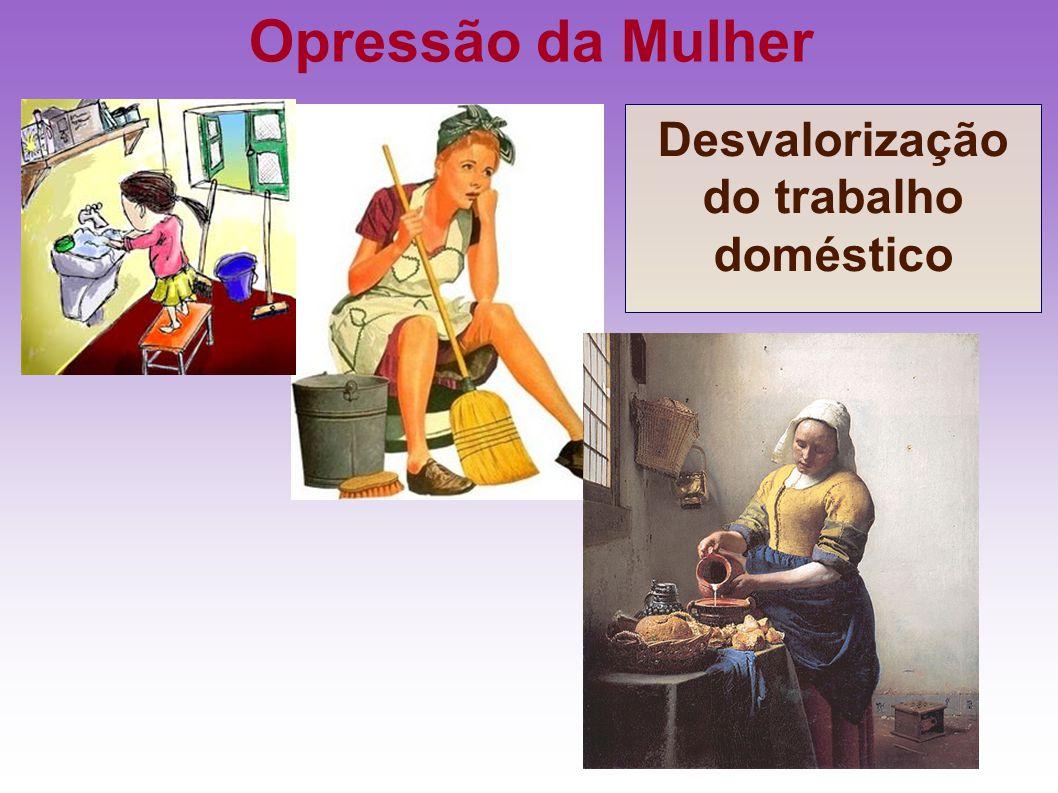 Opressão da Mulher Desvalorização do trabalho doméstico