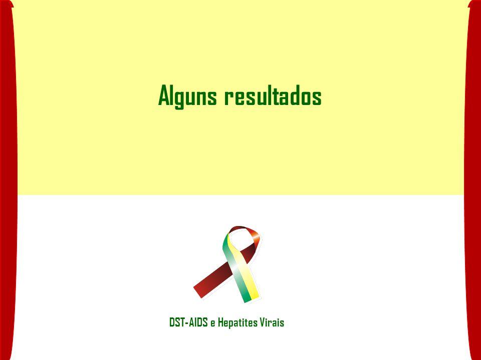 Alguns resultados DST-AIDS e Hepatites Virais