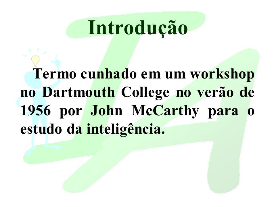 Termo cunhado em um workshop no Dartmouth College no verão de 1956 por John McCarthy para o estudo da inteligência.